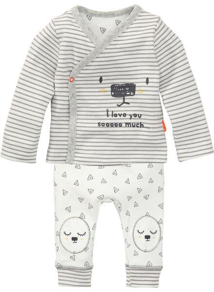 newborn t-shirt white white - 1000005477 - hema