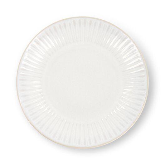 dinner plate - Ø26 cm - France - reactive glaze - white - 9602270 - hema