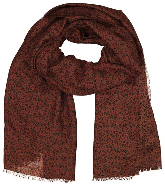 women's scarf 200x80 brown with dots - 1790012 - hema