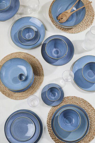 egg-cup - 5 cm - Porto - reactive glaze - blue - 9602025 - hema