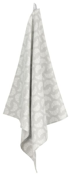 tea towel 65x65 croissant - white/grey - 5400112 - hema