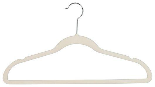 6er-Pack Kleiderbügel, cremeweiß, Velours - 39820505 - HEMA