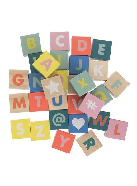 blocs alphabet en bois - 15122222 - HEMA