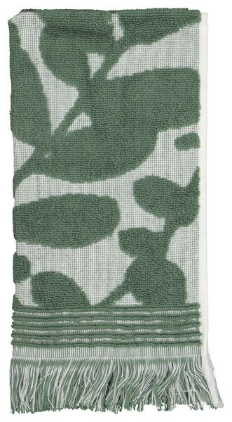 guest towel - 30x55 - heavy quality - leaves green/white - 5210115 - hema