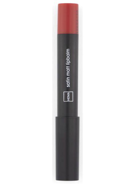 baume à lèvres satin matt 17 rouge - 11230317 - HEMA
