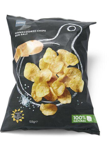 hand cooked crisps sea salt - 10661123 - hema