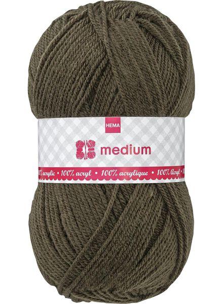 fil à tricoter medium medium 100 g vert armée - 1400050 - HEMA