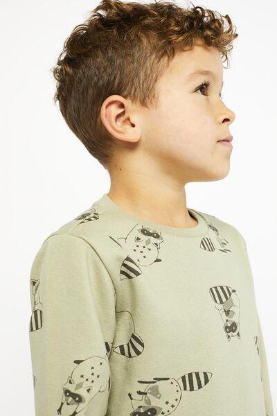 Kinder-Sweatshirt, Waschbär hellgrün hellgrün - 1000021468 - HEMA