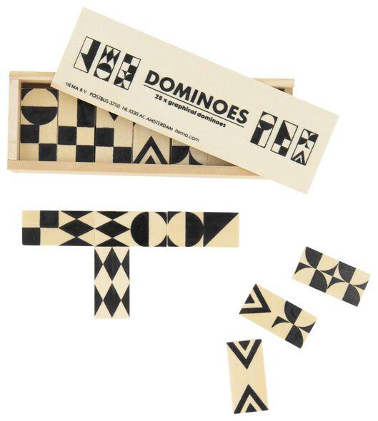 grafisches Domino-Spiel, Holz - 61122967 - HEMA