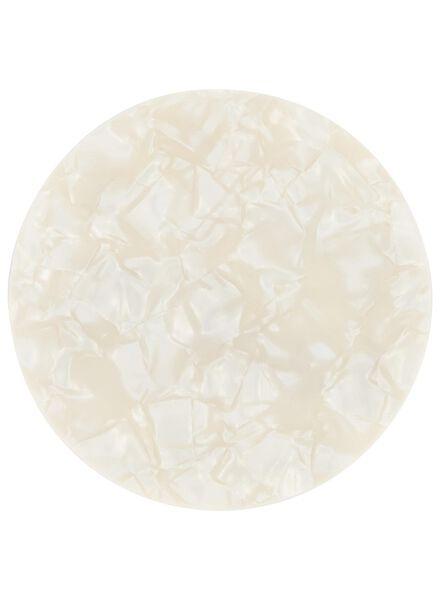 4 coasters Ø 10 cm - wood/pearl - 60020048 - hema
