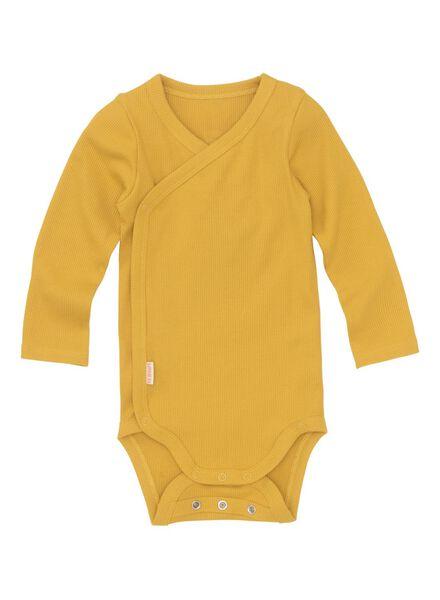 body croisé bambou stretch pour nouveau-né-prématuré jaune jaune - 1000013401 - HEMA