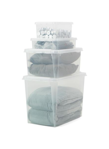 storage box 28 x 27 x 17 cm 28 x 28 x 17 transparent - 39870033 - hema