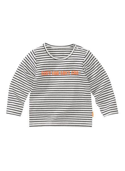 newborn T-shirt black/white black/white - 1000006384 - hema