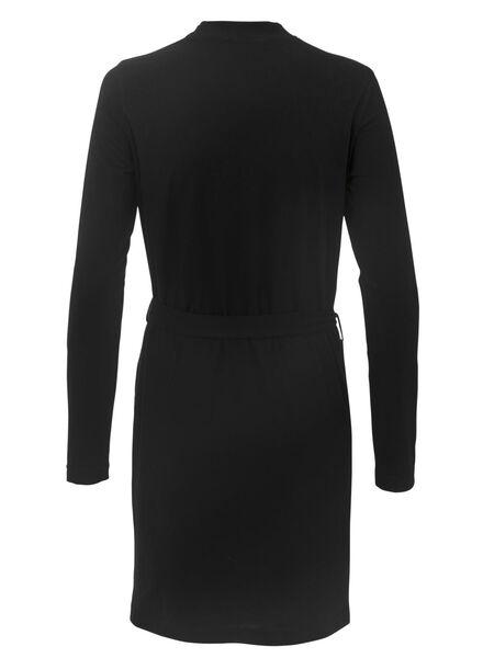 women's bathrobe black black - 1000008038 - hema