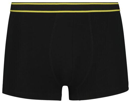 3-pack men's boxer shorts short cotton stretch black black - 1000018789 - hema