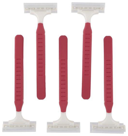 5 rasoirs jetables à 2 lames - 11312040 - HEMA
