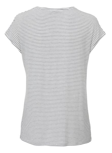 women's T-shirt white/black white/black - 1000005464 - hema