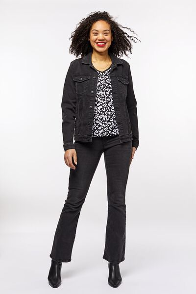 Damen-Jeansjacke schwarz schwarz - 1000022986 - HEMA