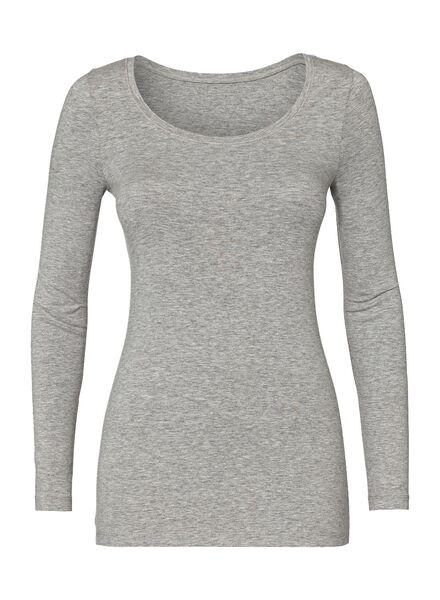 women's basic T-shirt light grey light grey - 1000005480 - hema