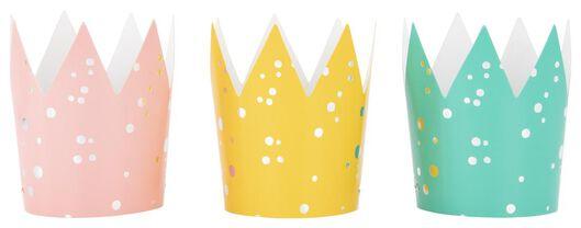 6 party hats paper rainbow - 14210151 - hema