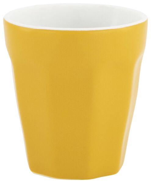 mug - 90 ml - Mirabeau matt - yellow - 9602203 - hema