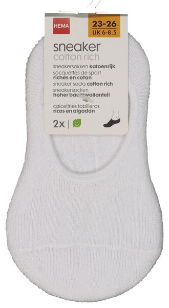 2er-Pack Kinder-Sneakersocken weiß weiß - 1000018460 - HEMA