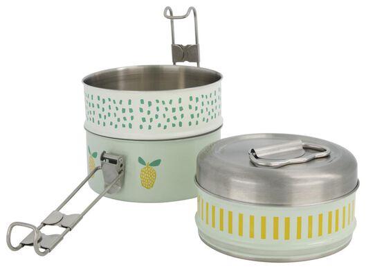 boîte à déjeuner tiffin 3 compartiments inox - 41540029 - HEMA
