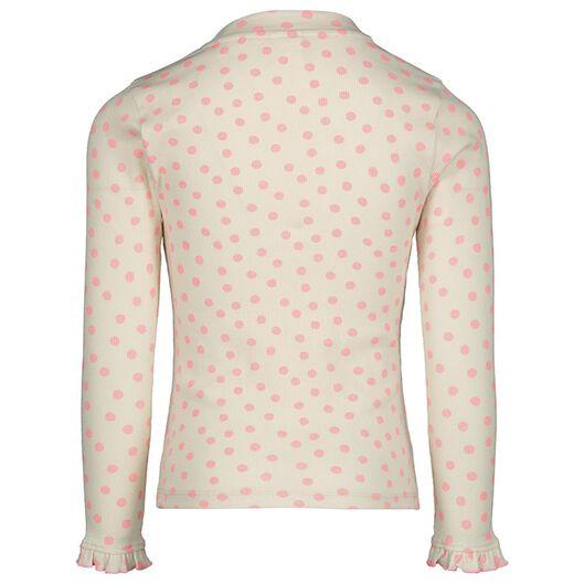 children's T-shirt ribbed white white - 1000020135 - hema