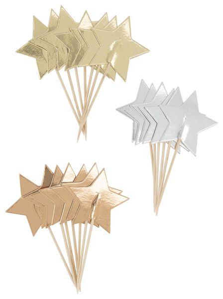 20 cocktail sticks 8 cm - stars - 25600141 - hema