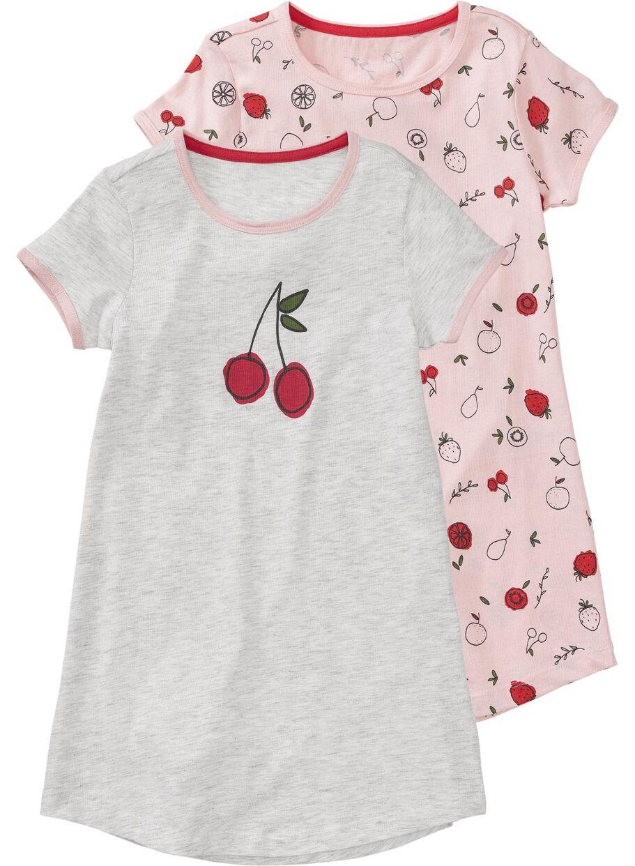 00d2512b95c Abbildungen 2er-Pack Kinder-Nachthemden hellrosa hellrosa - 1000011623 -  HEMA
