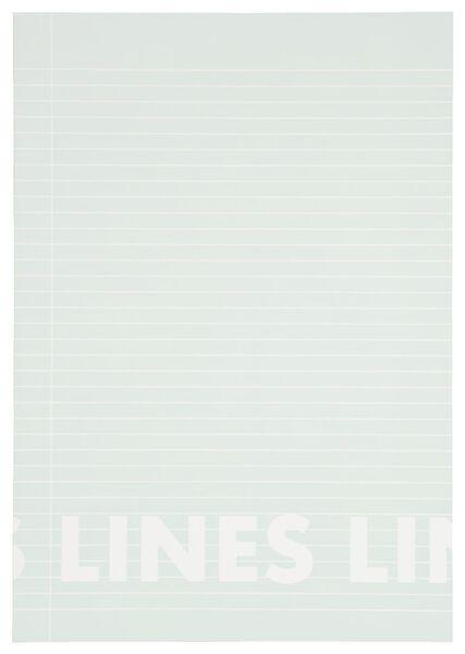 3er-Pack Hefte, mintgrün, DIN A4, liniert - 14101612 - HEMA