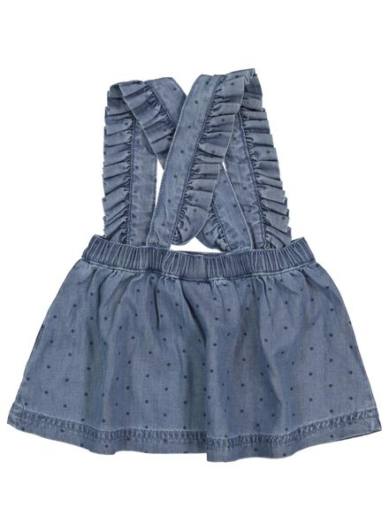 baby skirt with suspenders denim denim - 1000017525 - hema