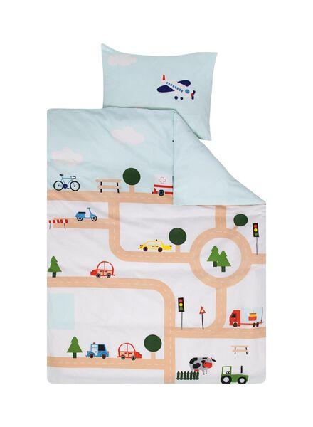 Kinder-Bettwäsche – 120 x 150 cm – Verkehrsspiel – blau - 5740016 - HEMA