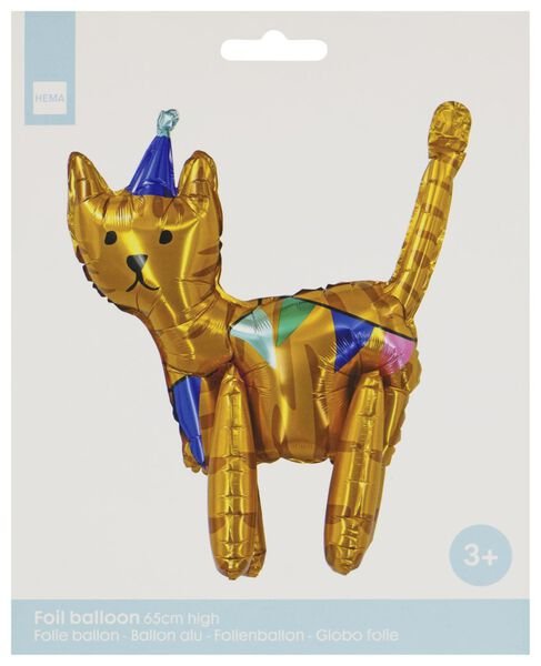 folieballon 3D 65cm hoog - kat - 14200481 - HEMA