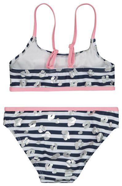 Kinder-Bikini, Streifen dunkelblau dunkelblau - 1000023112 - HEMA