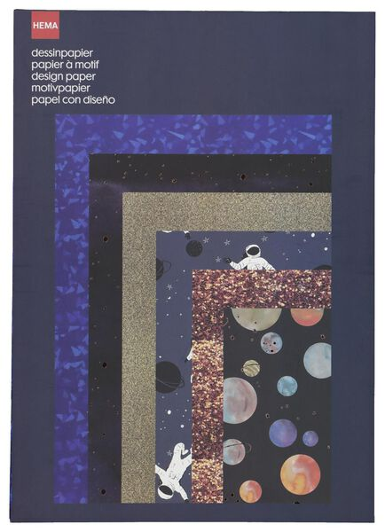 Image of HEMA 25 Sheets A4 Size Patterned Paper
