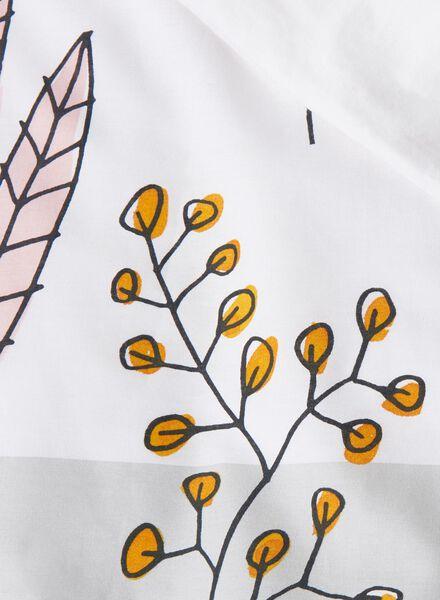housse de couette-coton doux-240x220cm-blanc bouquet - 5750033 - HEMA