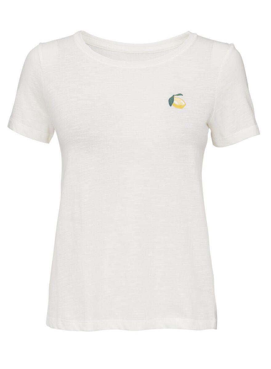 8885e2d01 images women's T-shirt off-white off-white - 1000013202 - hema