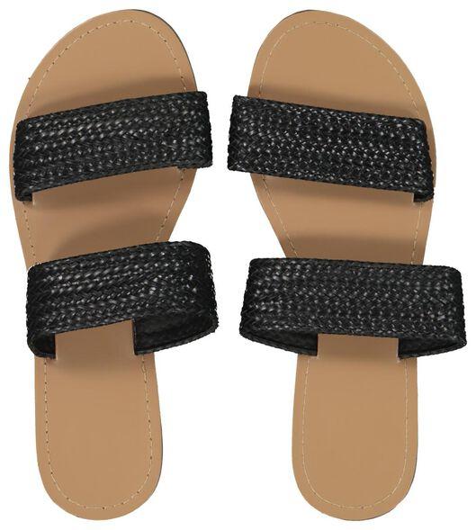 pantoufles femme noir noir - 1000019201 - HEMA