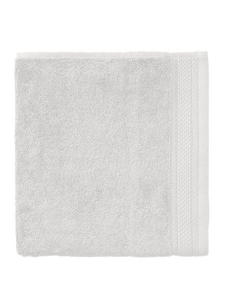 baddoek hotelkwaliteit 50 x 100 - lichtgrijs lichtgrijs handdoek 60 x 110 - 5240199 - HEMA