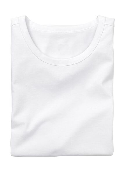 men's slim fit T-shirt extra long white white - 1000005985 - hema