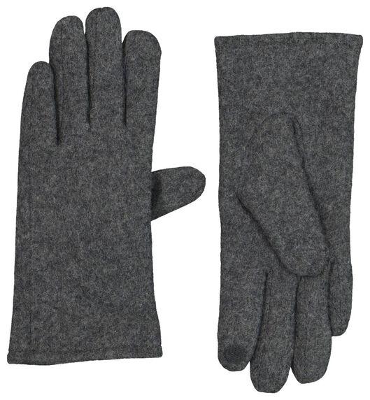Touchscreen-Damen-Handschuhe, Wollmischung dunkelgrau dunkelgrau - 1000020746 - HEMA