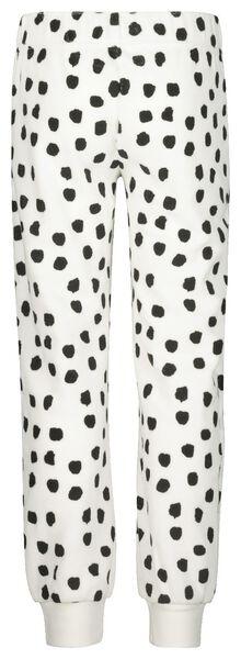Kinder-Pyjama, Velours, Dalmatinerflecken eierschalenfarben 134/140 - 23040404 - HEMA