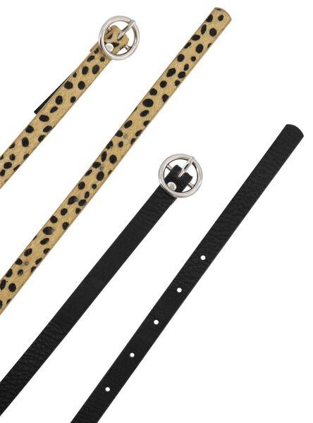 2 women's belts blonde blonde - 1000021081 - hema