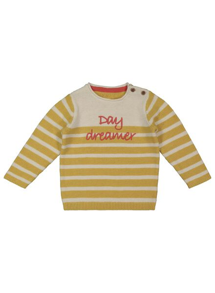 knitted baby sweater yellow yellow - 1000017450 - hema