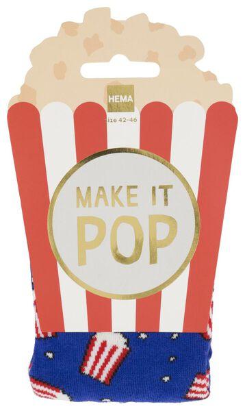 sokken maat 42-46 popcorn - 61140078 - HEMA