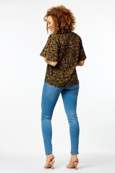 chemisier léopard femme vert clair vert clair - 1000024011 - HEMA