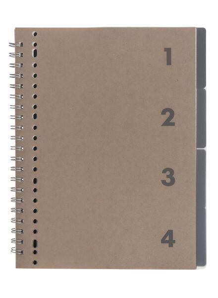 4-in-1 lecture notebook A4 ruled - 14122237 - hema