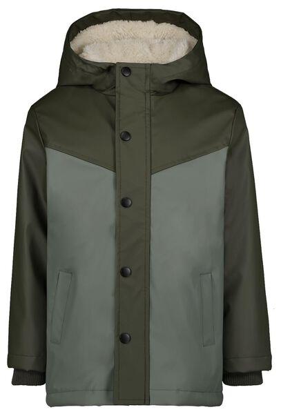 manteau enfant vert vert - 1000024365 - HEMA