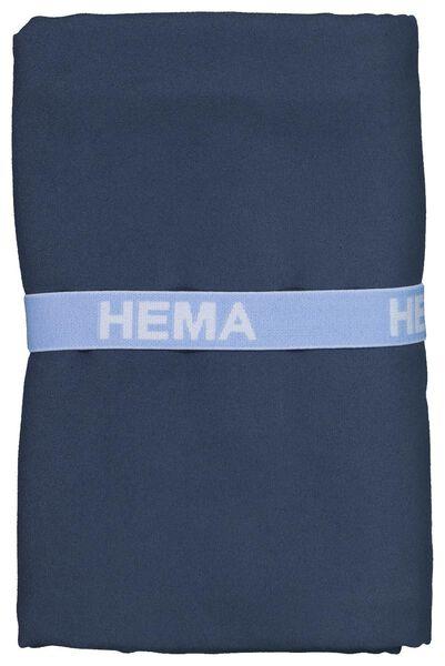 serviette de bain microfibre 110x175 bleu - 5290063 - HEMA